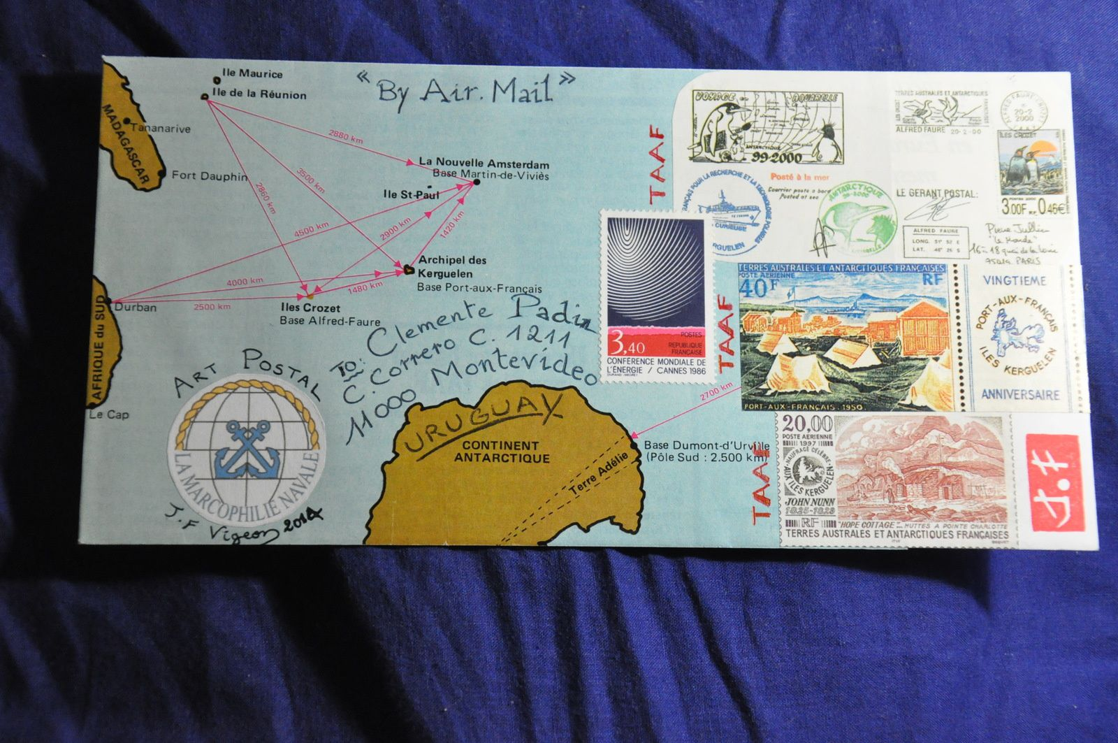For Clemente Padin, mail artist from URUGUAY!