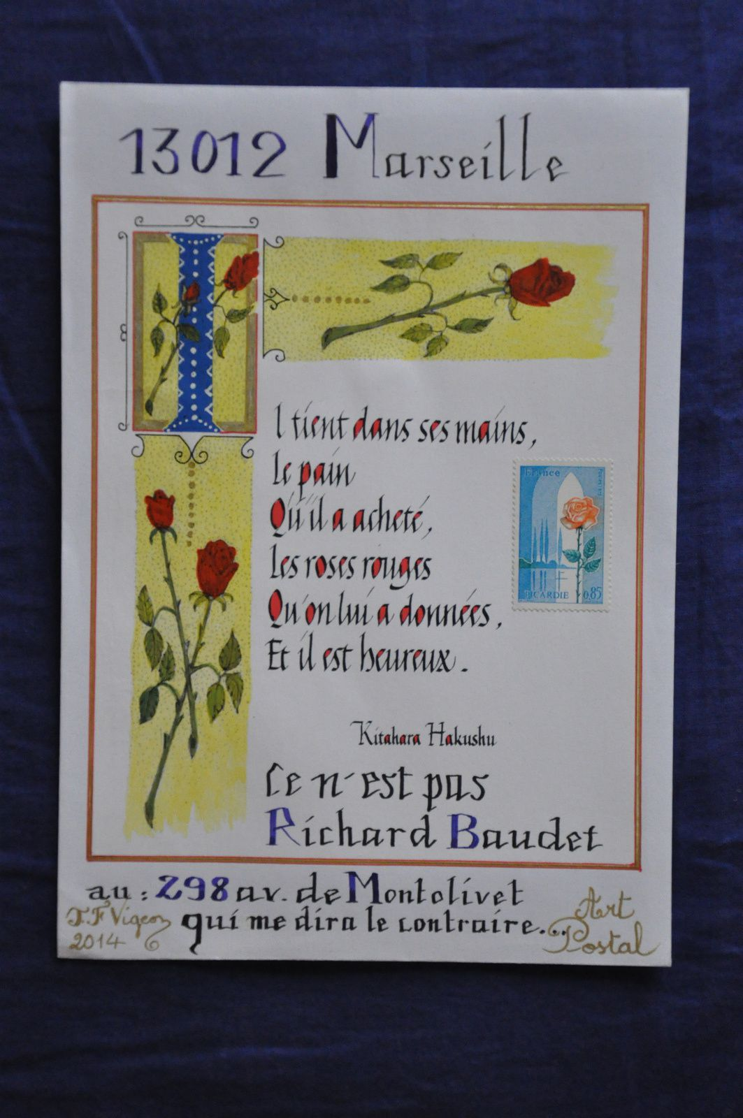 Une très belle citation pour Richard Baudet, calligraphe de talent!