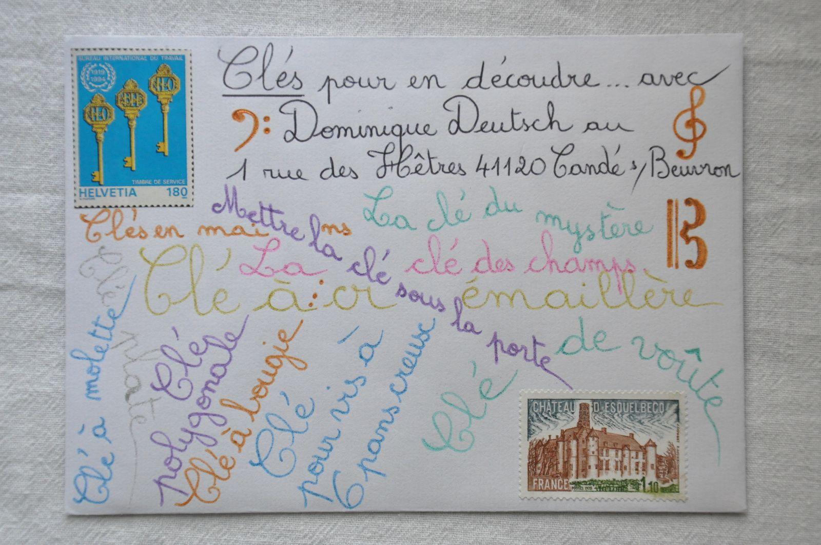 Envoyé à Dominique Deutsch sur le thème des clés...