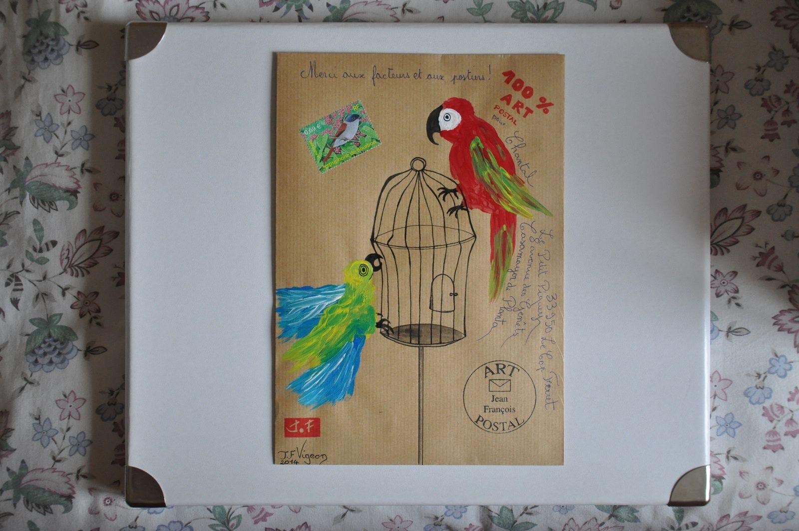 Ces aras colorés pour Chantal Casamayor de Planta.