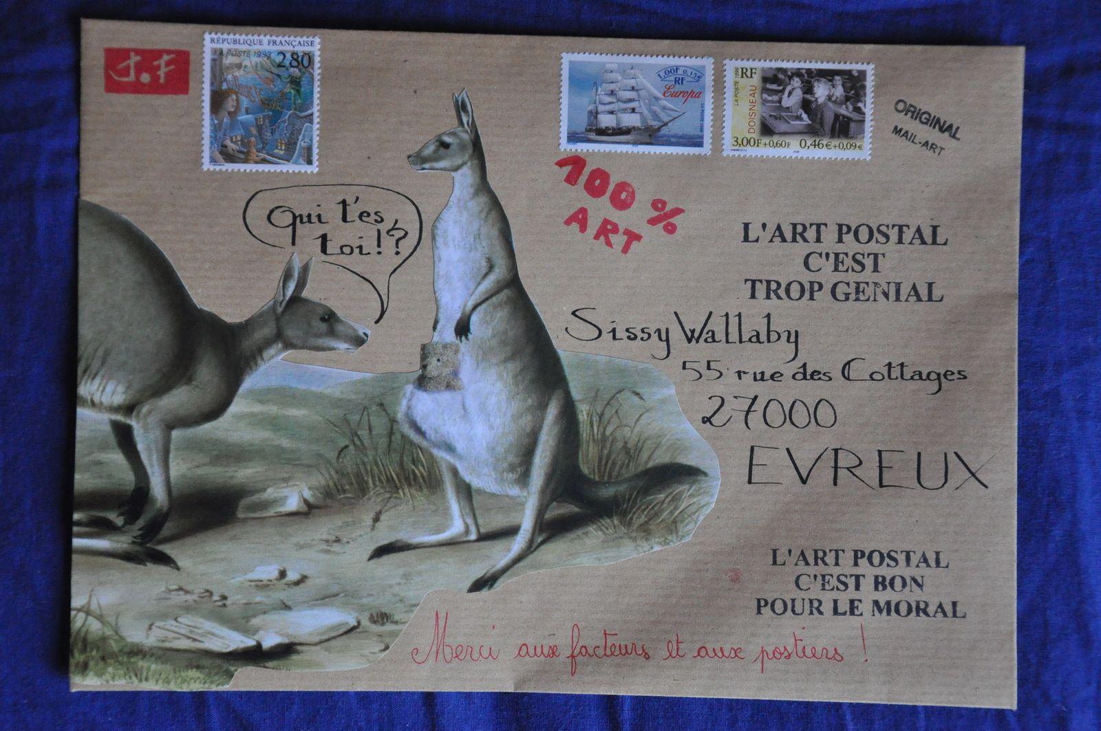 Pour Sissi Wallaby qui elle aime les kangourous!