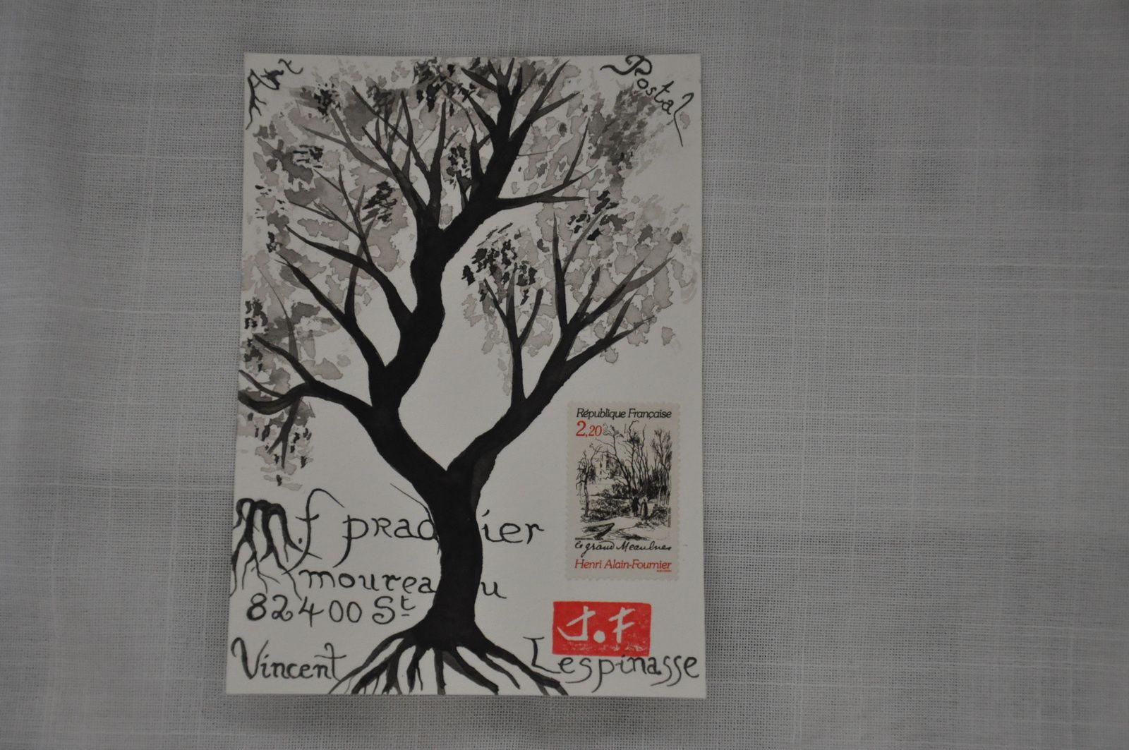Pour Marie-France Pradier, une tentative de 1er Sumi-e qui s'est transformé en dessin à l'encre...