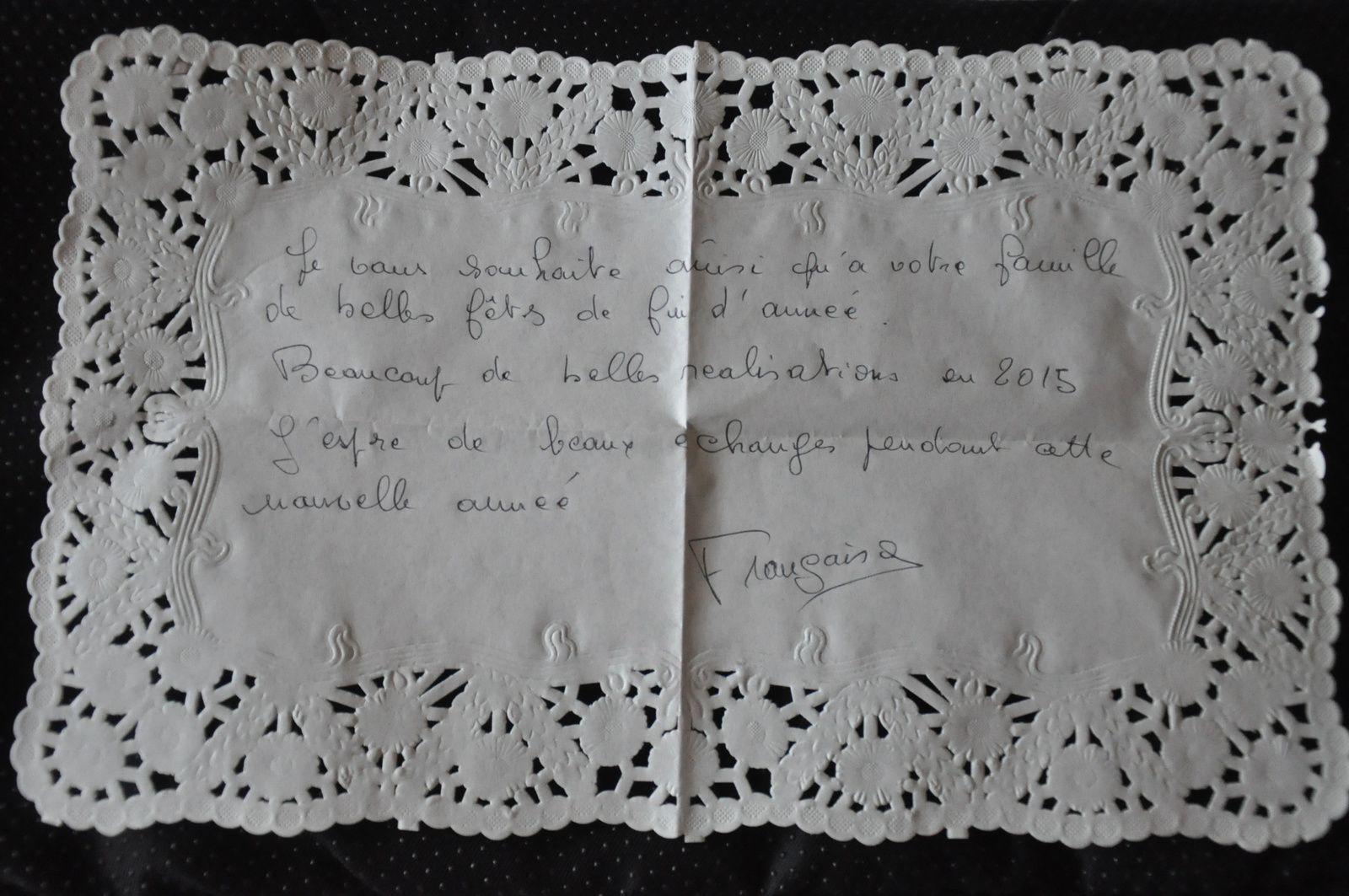 J'ai reçu ce magnifique Mail-ARt de Françoise Bourgon! BRAVO et MERCI!
