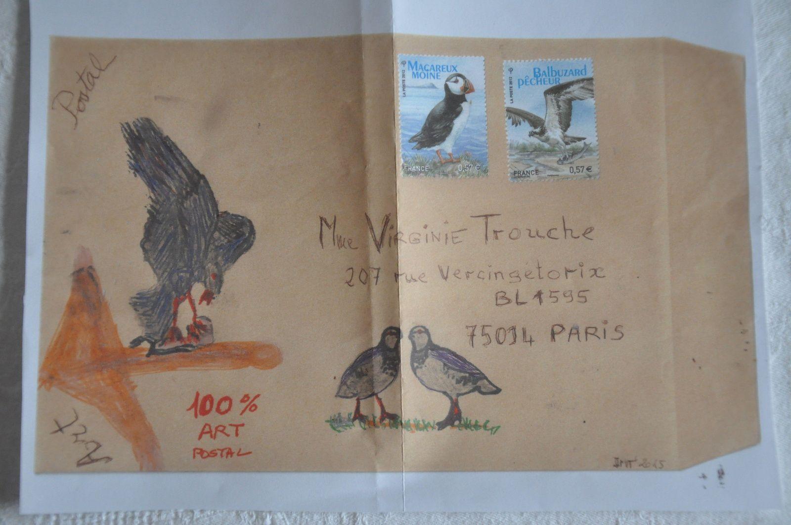 Bravo à Jean-Michel Trouche qui à la suite de notre rencontre débute en Art postal...