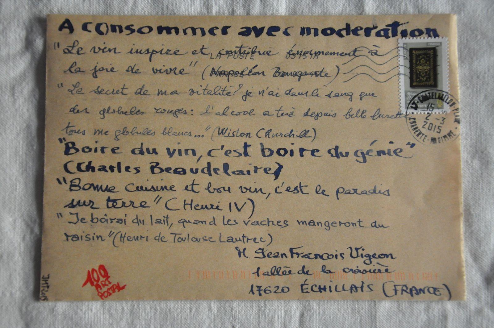 """Merci à Jean-Michel Trouche qui devient un """"mordu"""" d'ARt postal!"""