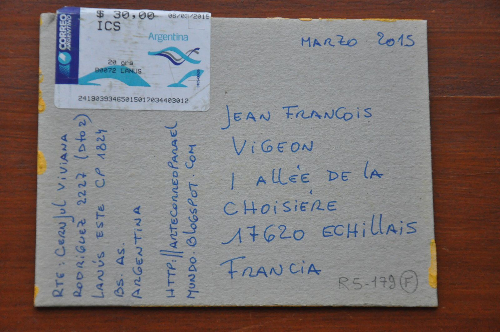 Thank you very much to Viviana Cernjul from ARGENTINA!