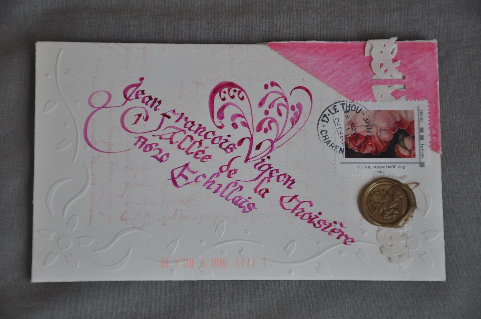 Cette superbe enveloppe est de Corinne Vitasse! BRAVO l'artiste et MERCI!