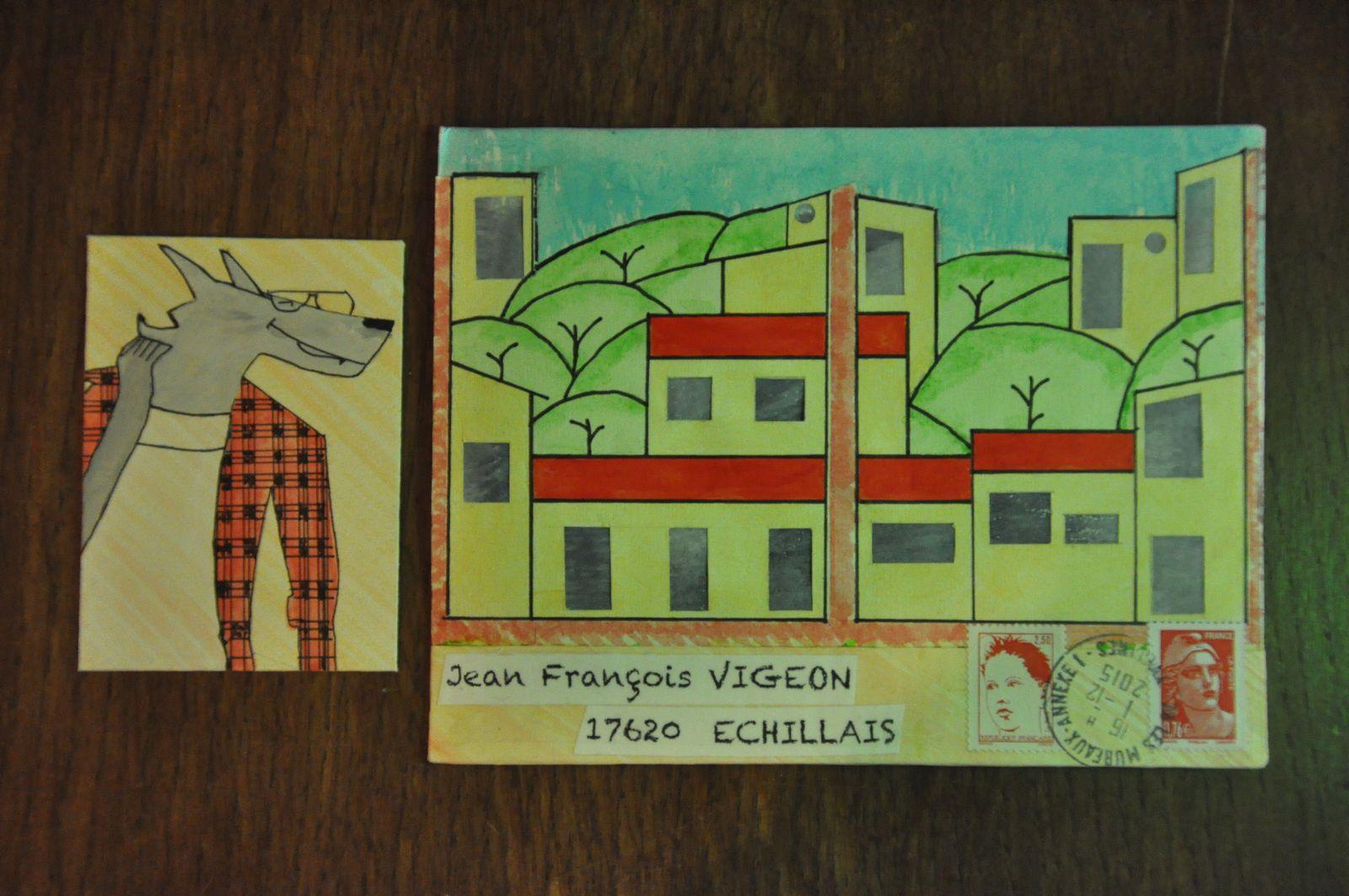 Merci également à Jean-Paul Podevin qui me gratifie d'un magnifique A.T.C (Artist Trading Card) dans son envoi!