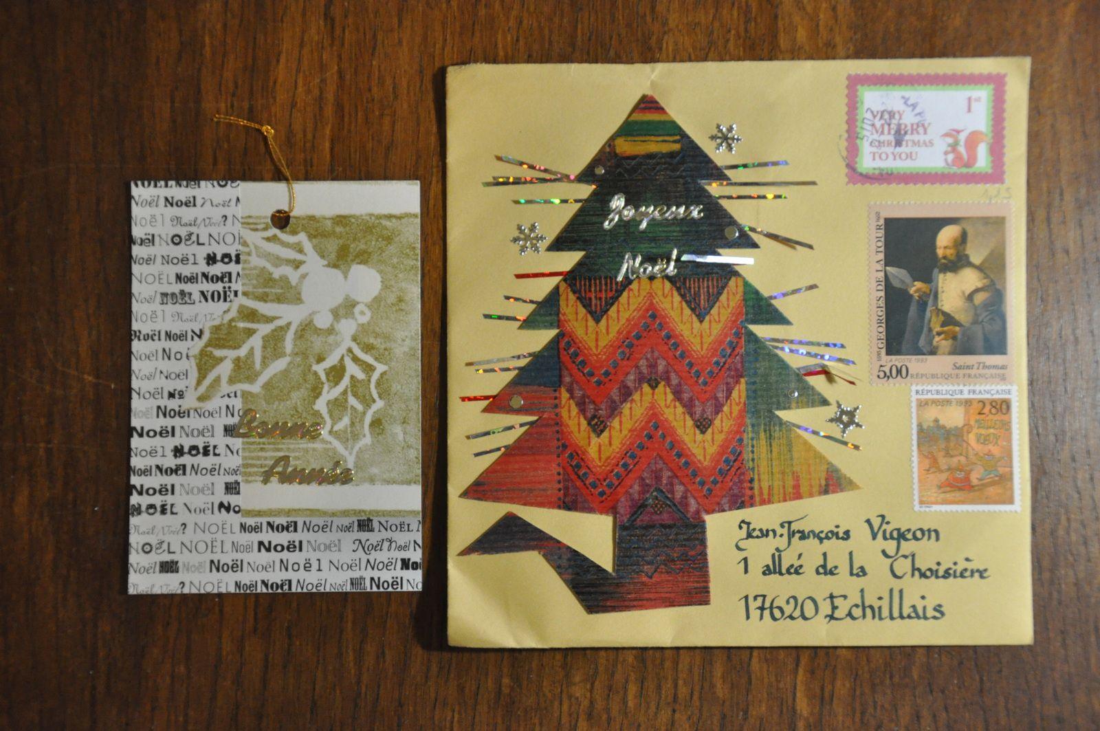 Reçu de Marie Fenianos cette belle enveloppe et ces deux A.T.C! Cela tombe bien car j'y prends  goût! MERCI!