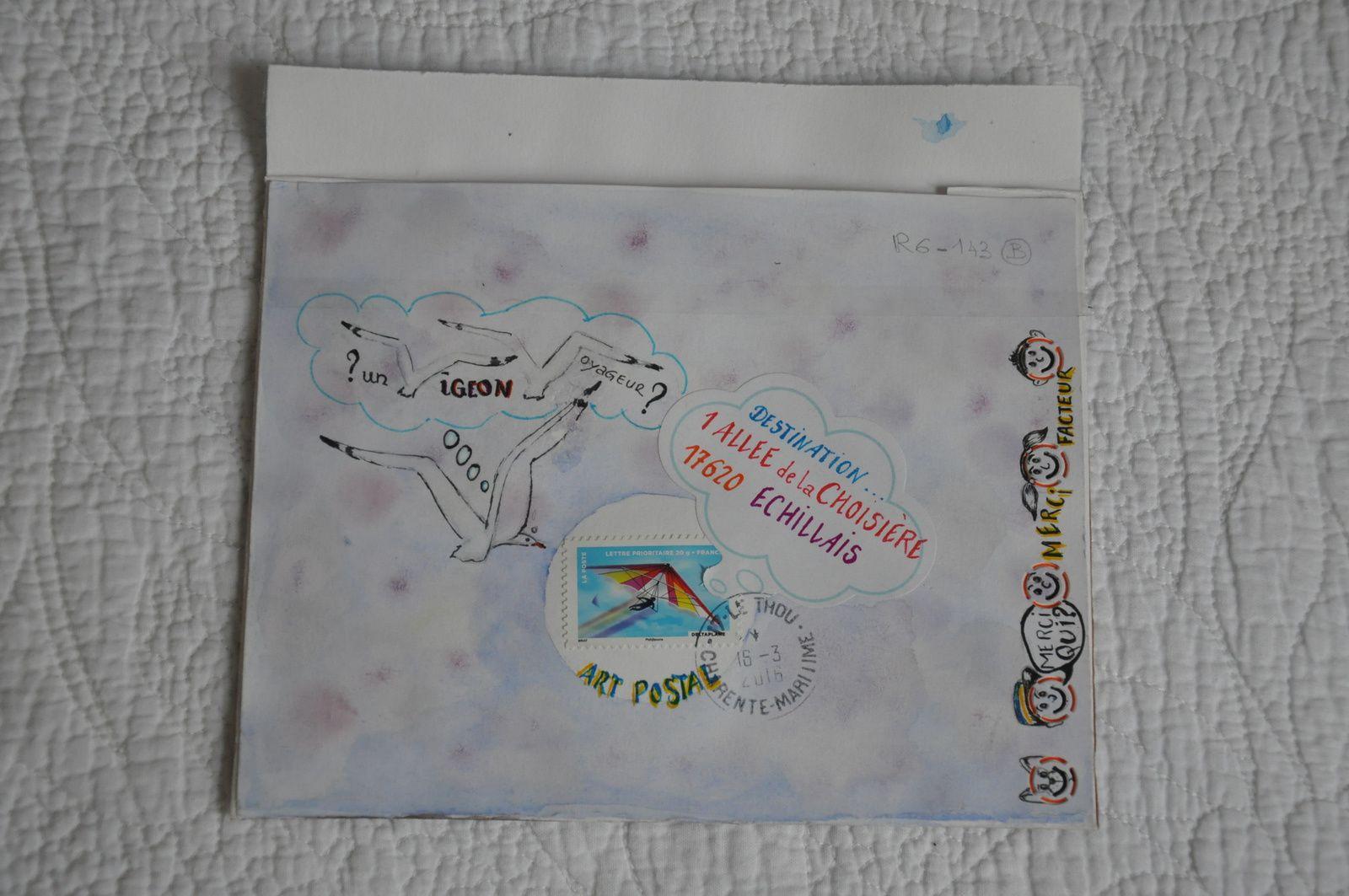 C'est toujours un immense plaisir de recevoir un Mail-ARt de Corinne Vitasse! BRAVO l'artiste et merci!