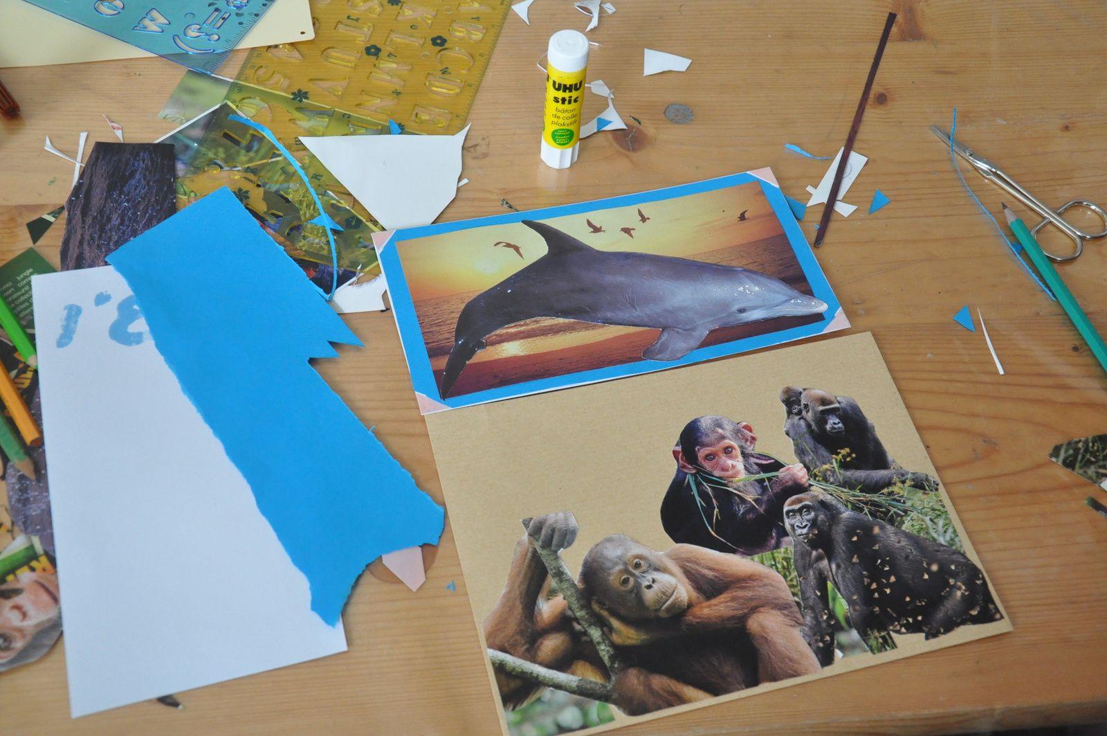 A chaque atelier la créativité est toujours présente...Il ne reste plus qu'à poster!!!!!!!!!!