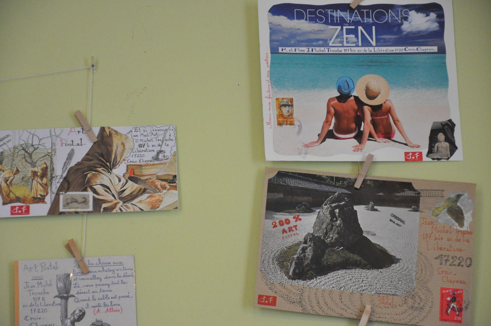 VIVE L'ART POSTAL! C'EST TROP GENIAL! Je remercie également Jean-Michel Trouche qui m'a renvoyé mes oeuvres pour que je puisse les exposer...