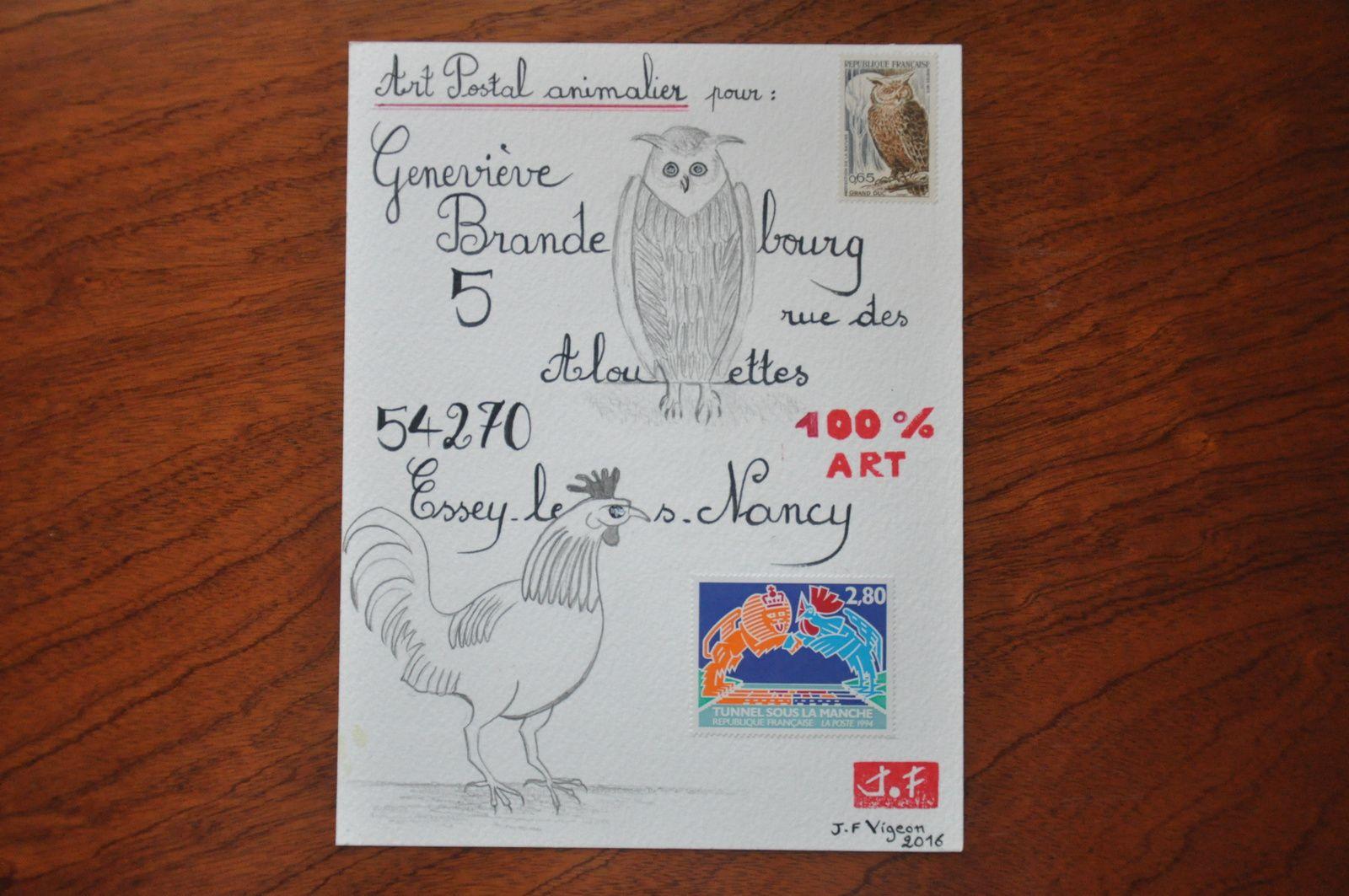 Pour Geneviève Brandebourg et ses nouveaux appels : Coqs et Chouettes...