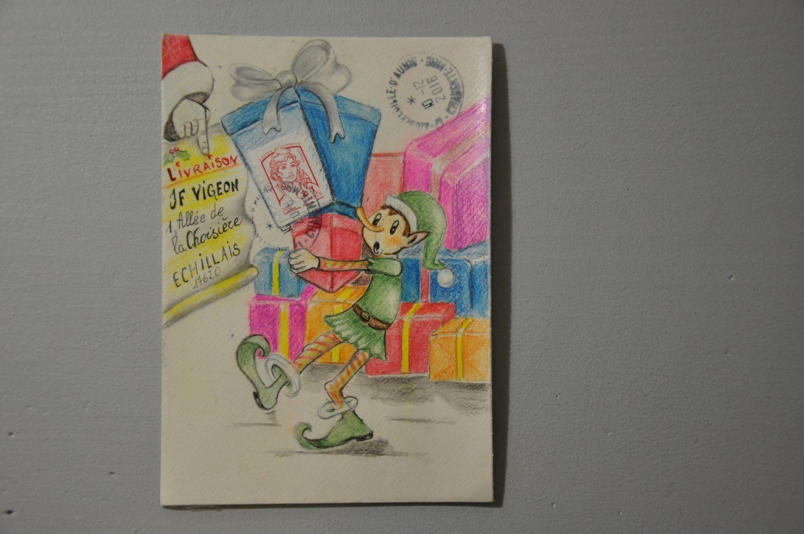 Une magnifique oeuvre postée de Corinne Vitasse! Tout y est : dessin, couleurs et humour! Merci...