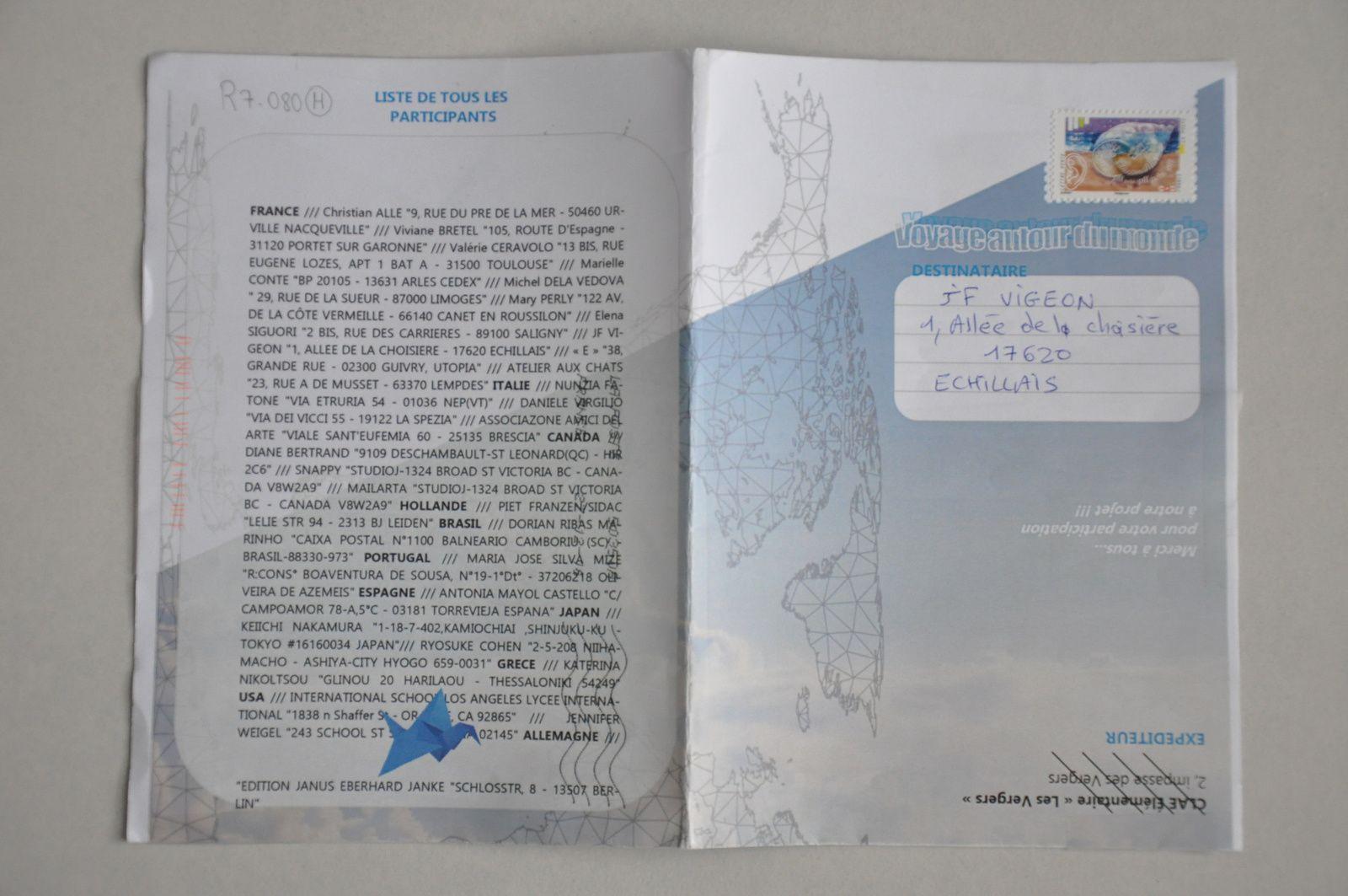 Merci au CLAE Les Vergers à Toulouse pour ce catalogue de leurs oeuvres reçues...