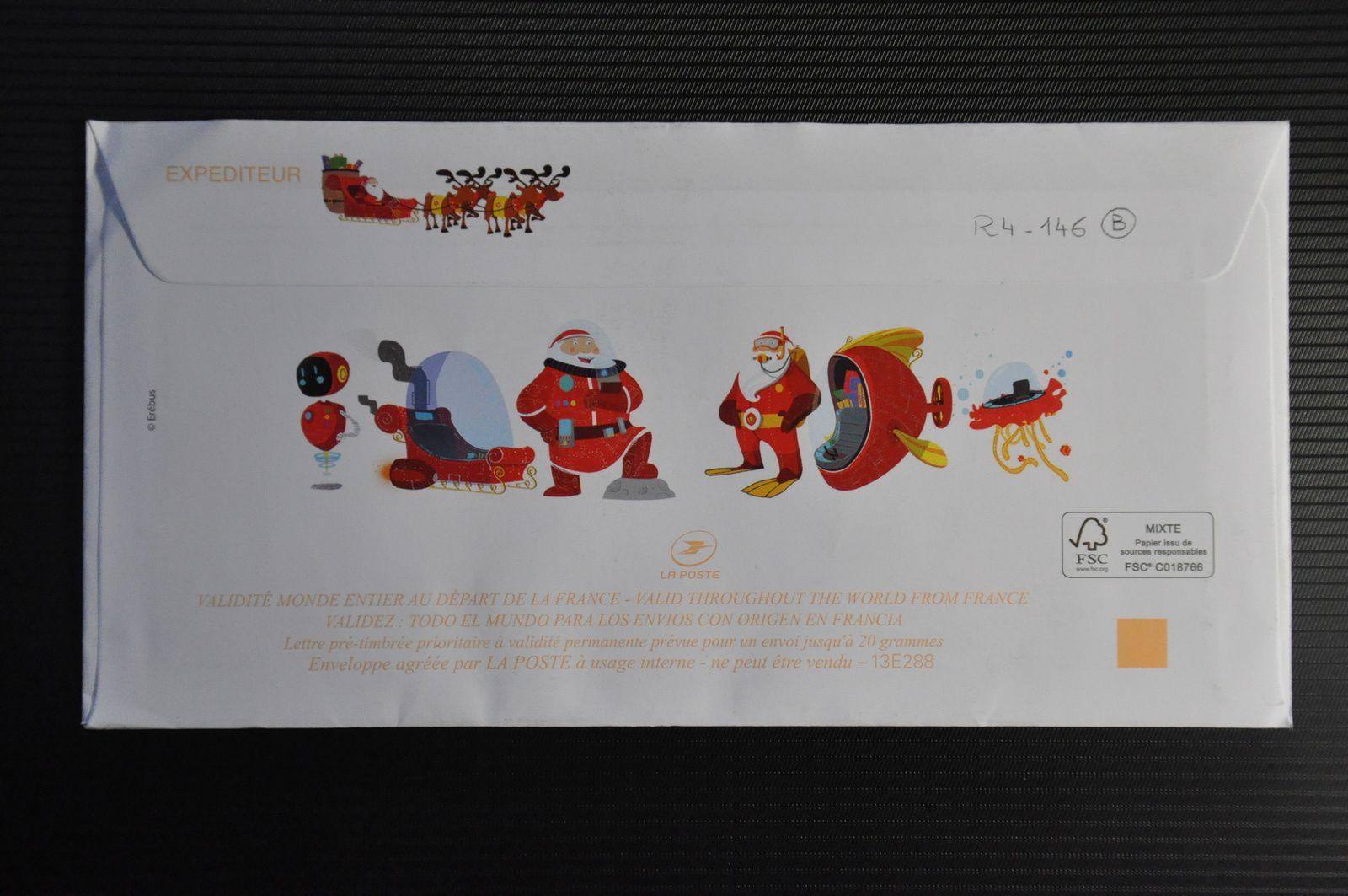 Mais oui le Père-Noël existe car j'ai reçu ce courrier de Libourne sans avoir écrit moi-même de lettre au Père-Noël! A moins que ce ne soit l'ARt postal qui mène à toutes les surprises!!!!!!!!!!!!!!!