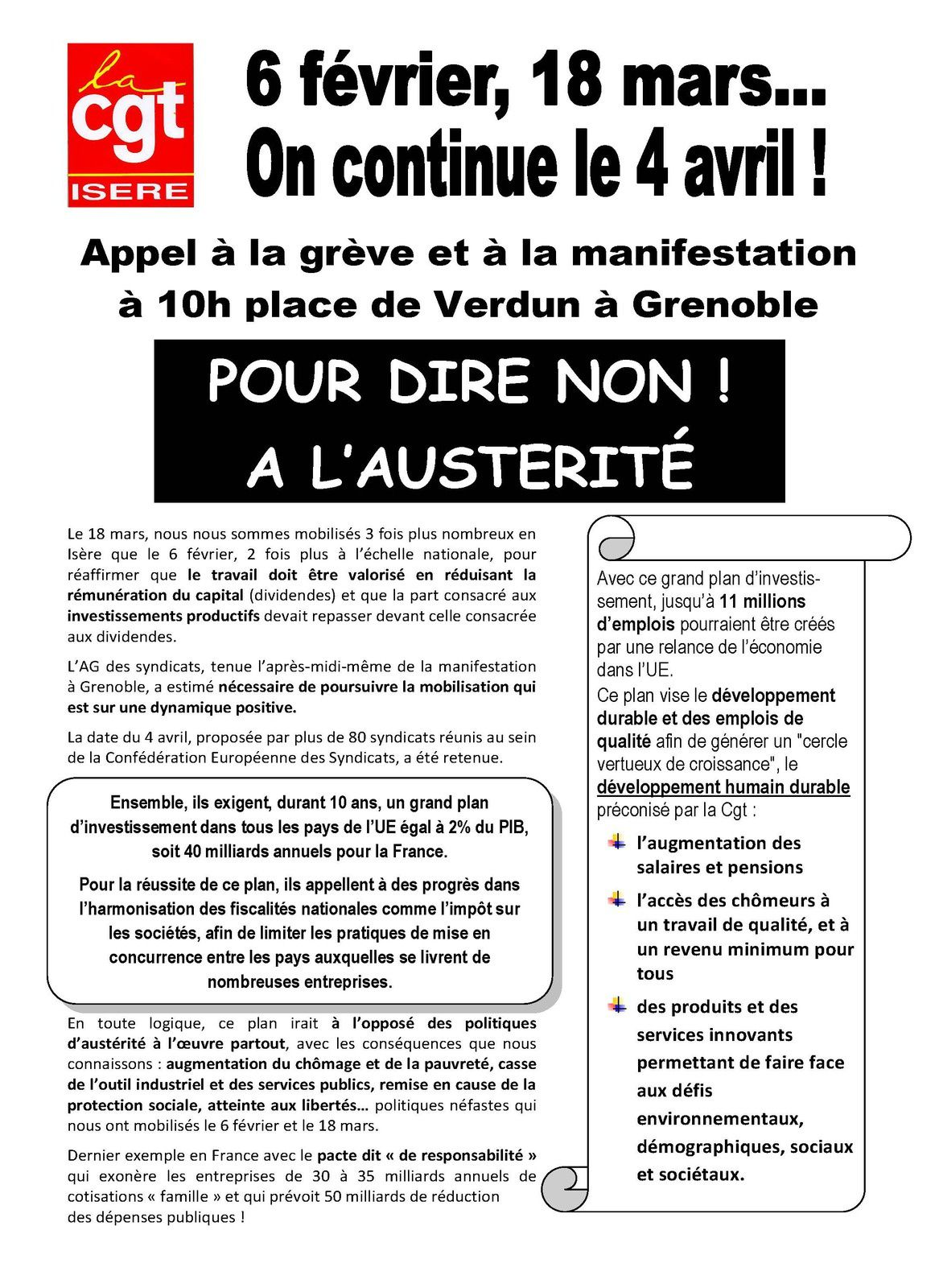 Tract UD CGT Isère