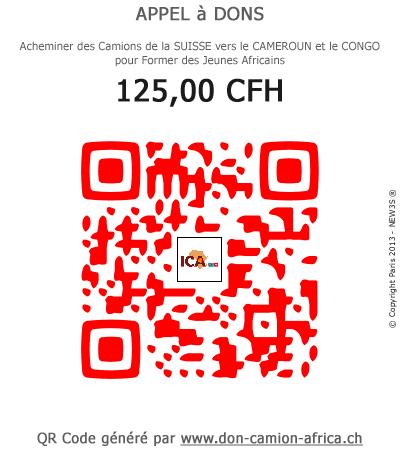 QR-Code Don Camion Africa 5,00 euros / 10,00 euros / 20,00 euros / 50,00 euros / 100,00 euros / 250,00 euros / 6,00 CHF / 12,00 CHF / 25,00 CHF / 60,00 CHF / 125,00 CHF / 310,00 CHF