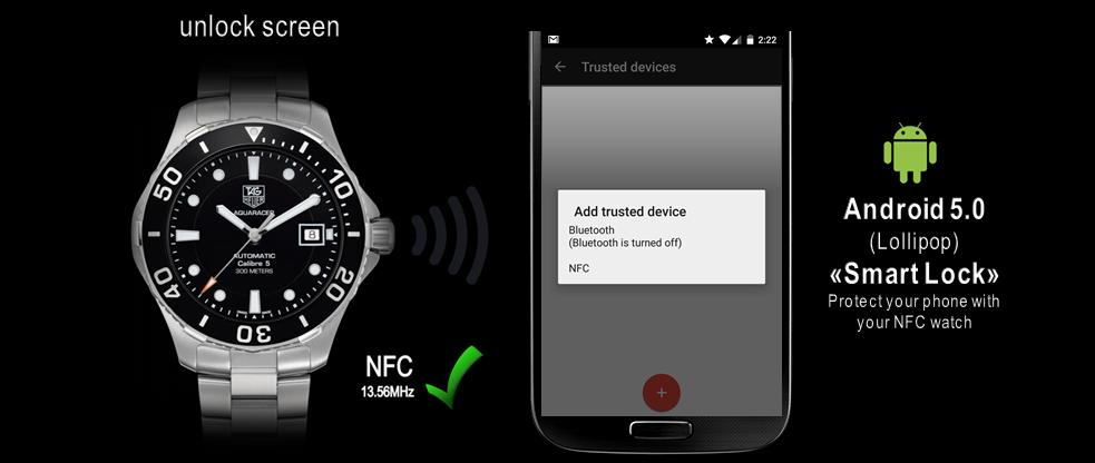 la montre NFC