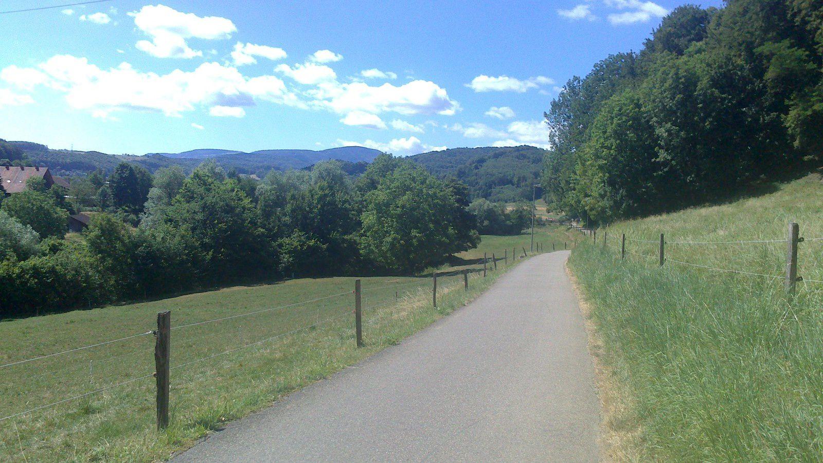 la piste aux environs de Liestal