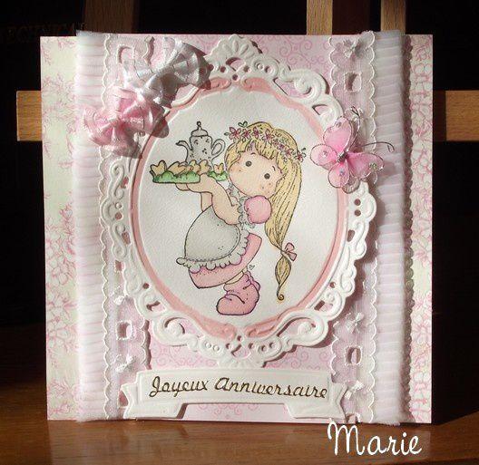 Carte d'anniversaire pour Elise/abcduscrap