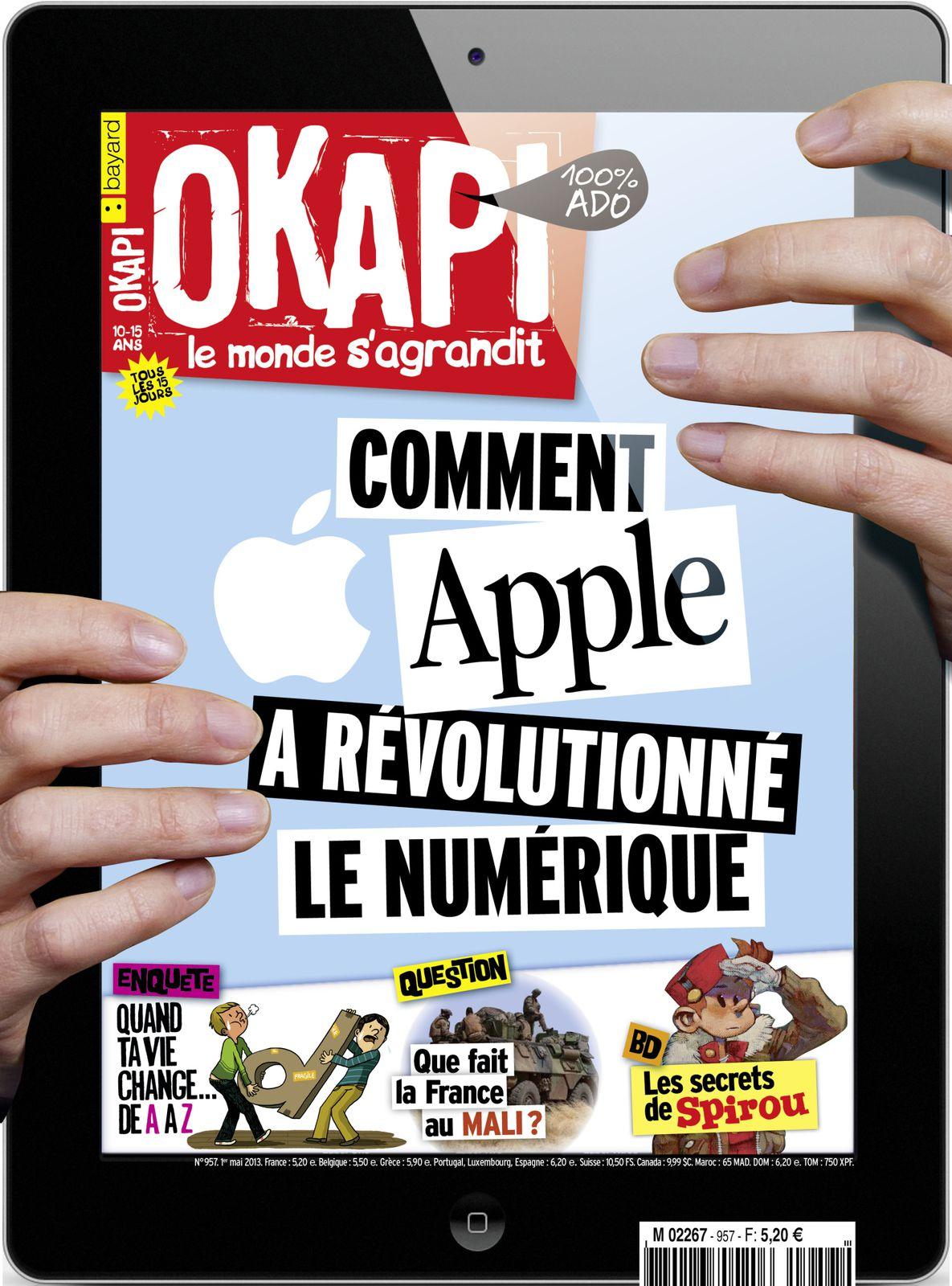 """Couverture Okapi 1er mai 2013 avec l'Enquête """"Quand tout change dans ta vie de A à Z """""""
