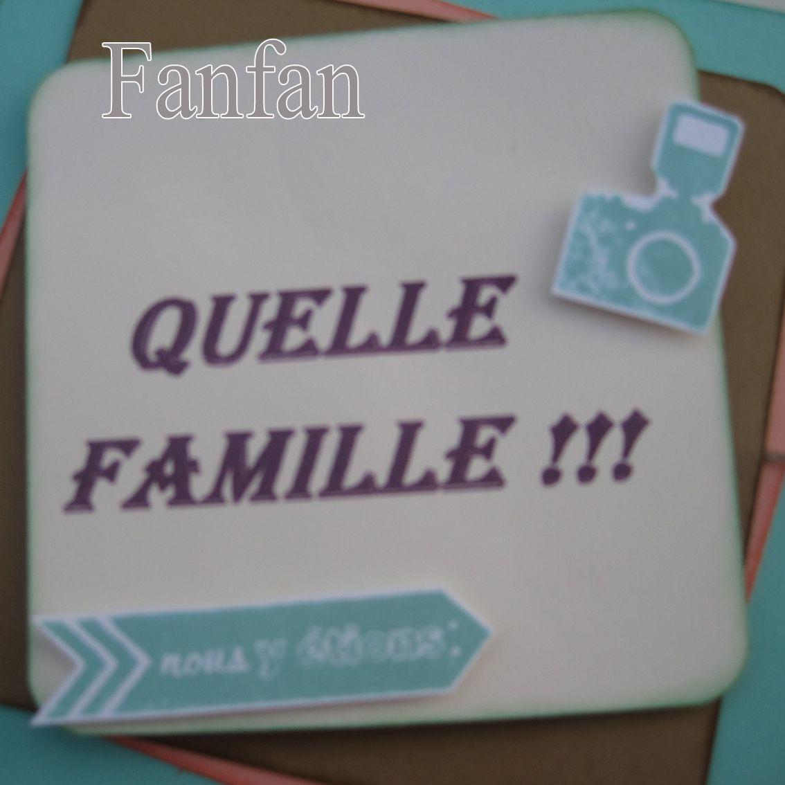 Mini Album Accordéon &quot&#x3B;Quelle Famille&quot&#x3B;