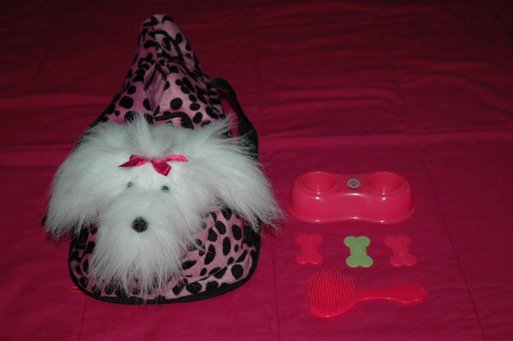 Lot 7 pièces peluche chien et accessoires