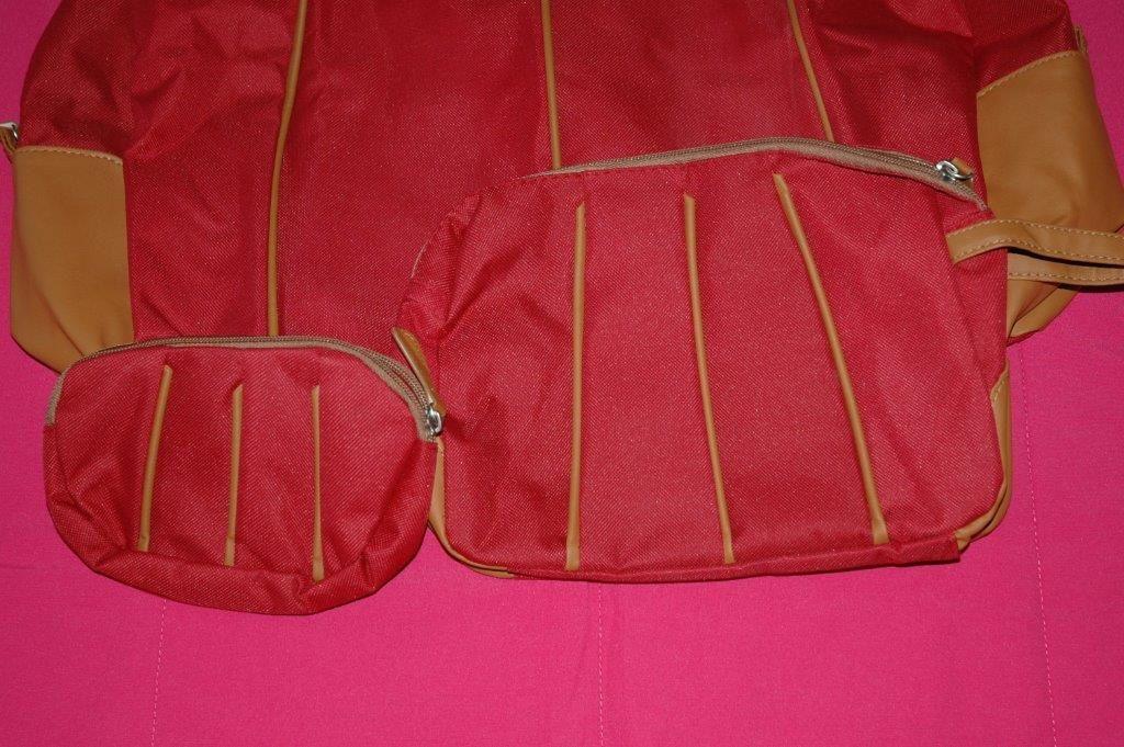 Lot de 3 sacs de voyage - Rouge