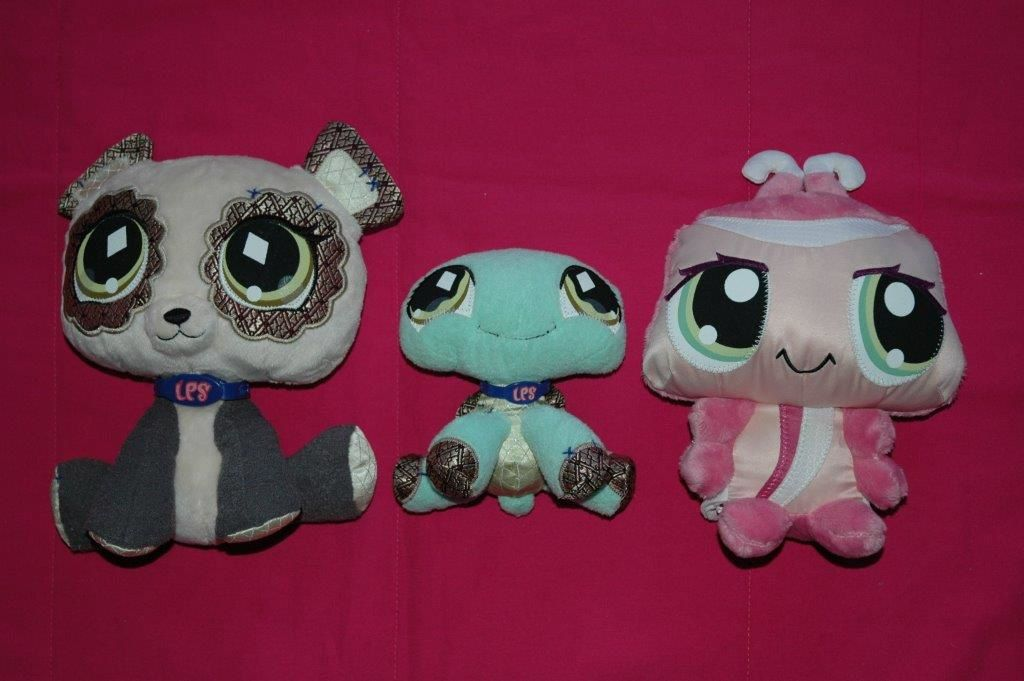 Lot de 3 peluches - Littlest Petshop