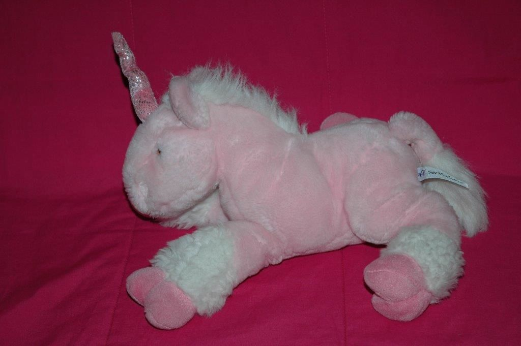 Peluche licorne rose - Soft Sensations