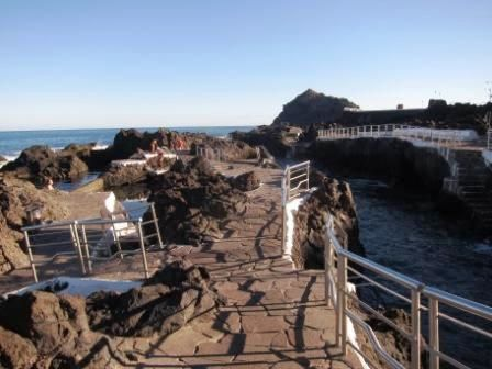 Garachico : Notre Hôtel et la piscine artificielle