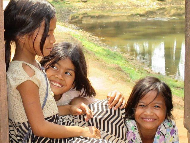 Des sourires d'enfants, des sourires d'anges.