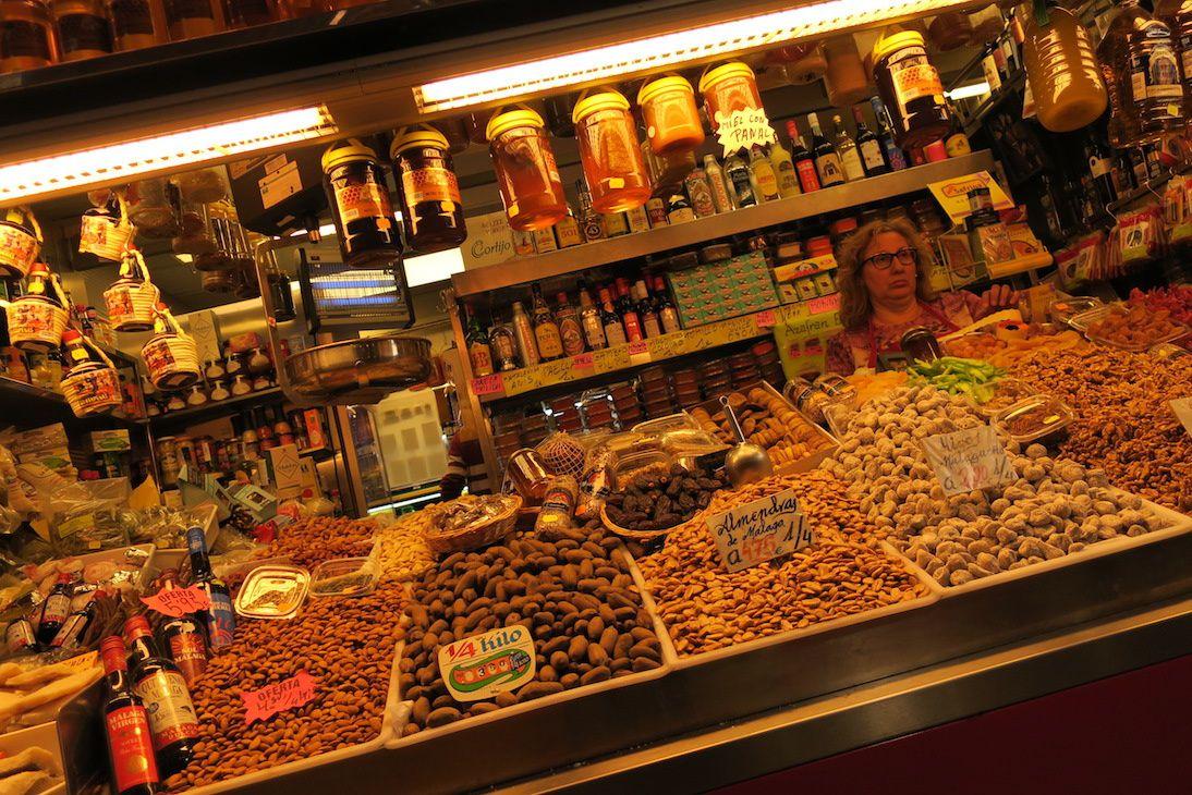 Le marché central de Malaga.