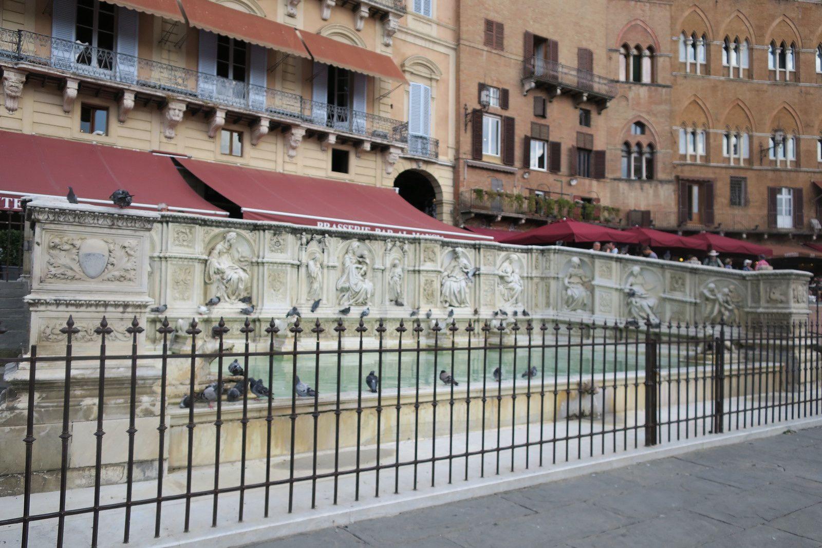Puits et fontaines de Sienne