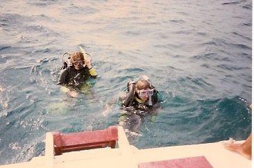Anne pendant son stage hyper cool de plongée