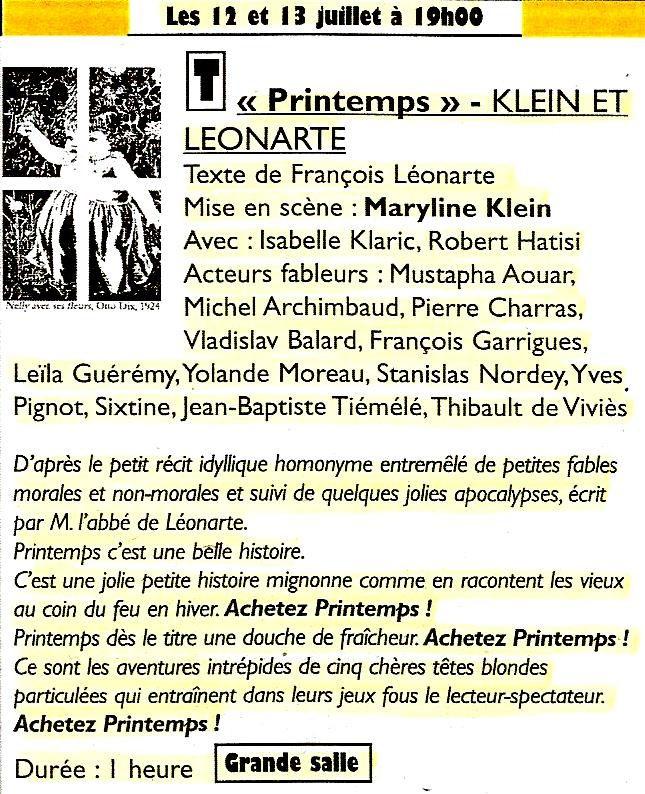 PRINTEMPS Candeur, sagesse et vertu - Compagnie KL (Gare au Théâtre)