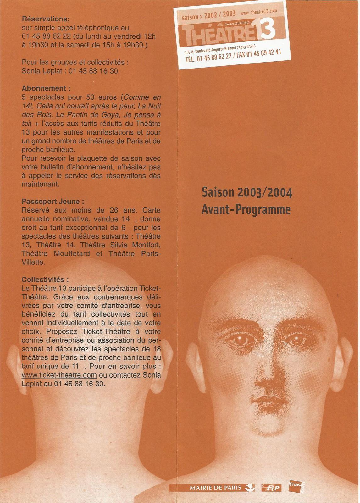 DANS LE CORPS DU TEXTE - Ecole Supérieure d'Art Dramatique de la Ville de Paris