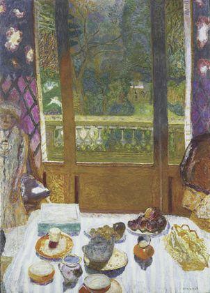 James Salter with his wife Kay Eldredge in 2012-  Ebauche de titres pour Light Years - Tableau de Bonnard : Breakfast room