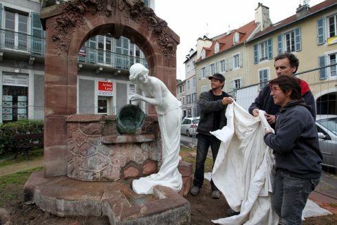 La statue d'Ernest GABARD à l'entrée de PAU enfin restaurée !
