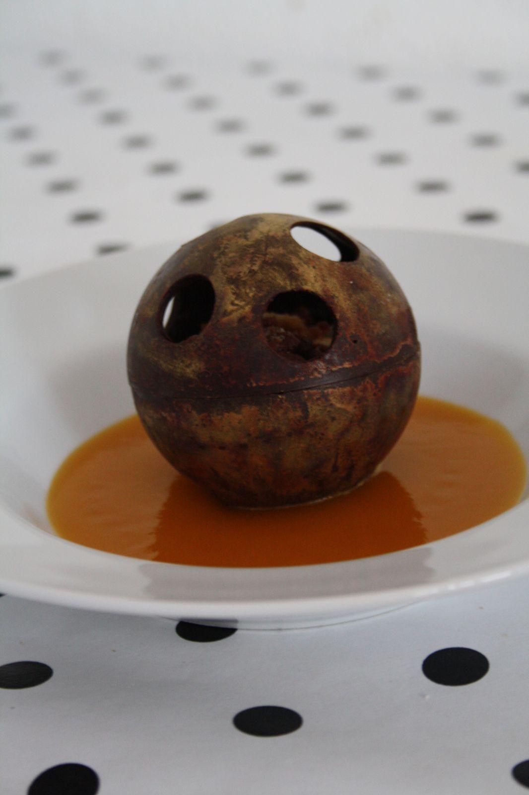 """sphère """"effet rouille"""". Je dépose le brevet! &#x3B;)"""