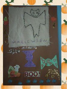 Broderie école- Activités Automne-Halloween