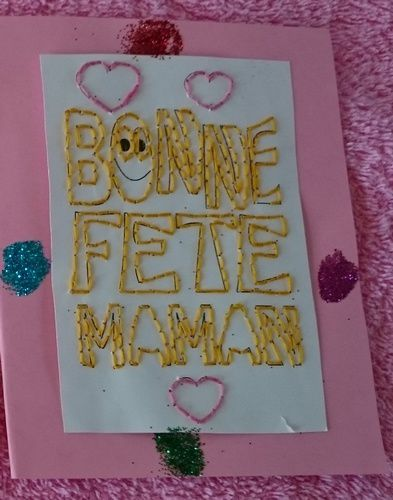 Broderie pour Maman. Mai 2015