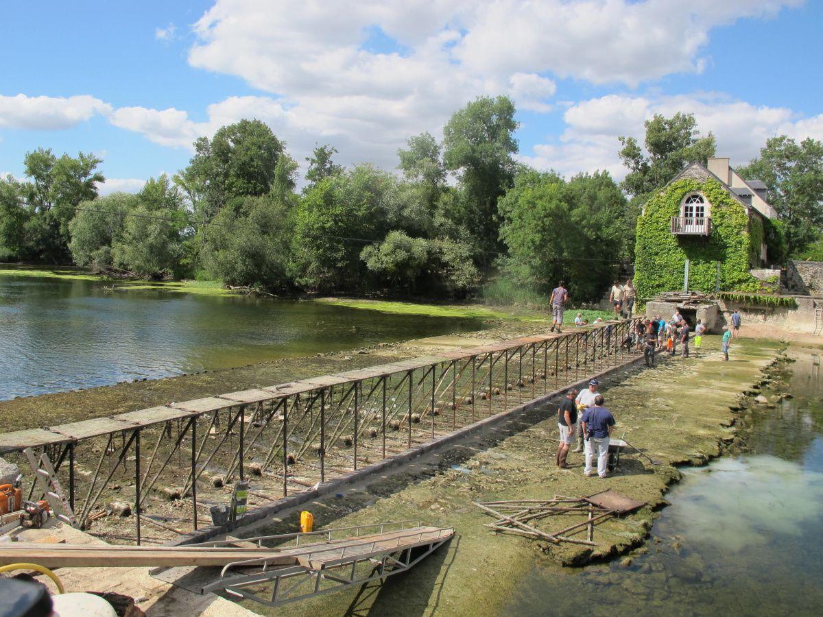 Barrage de Nitray- commune de Saint Martin le Beau