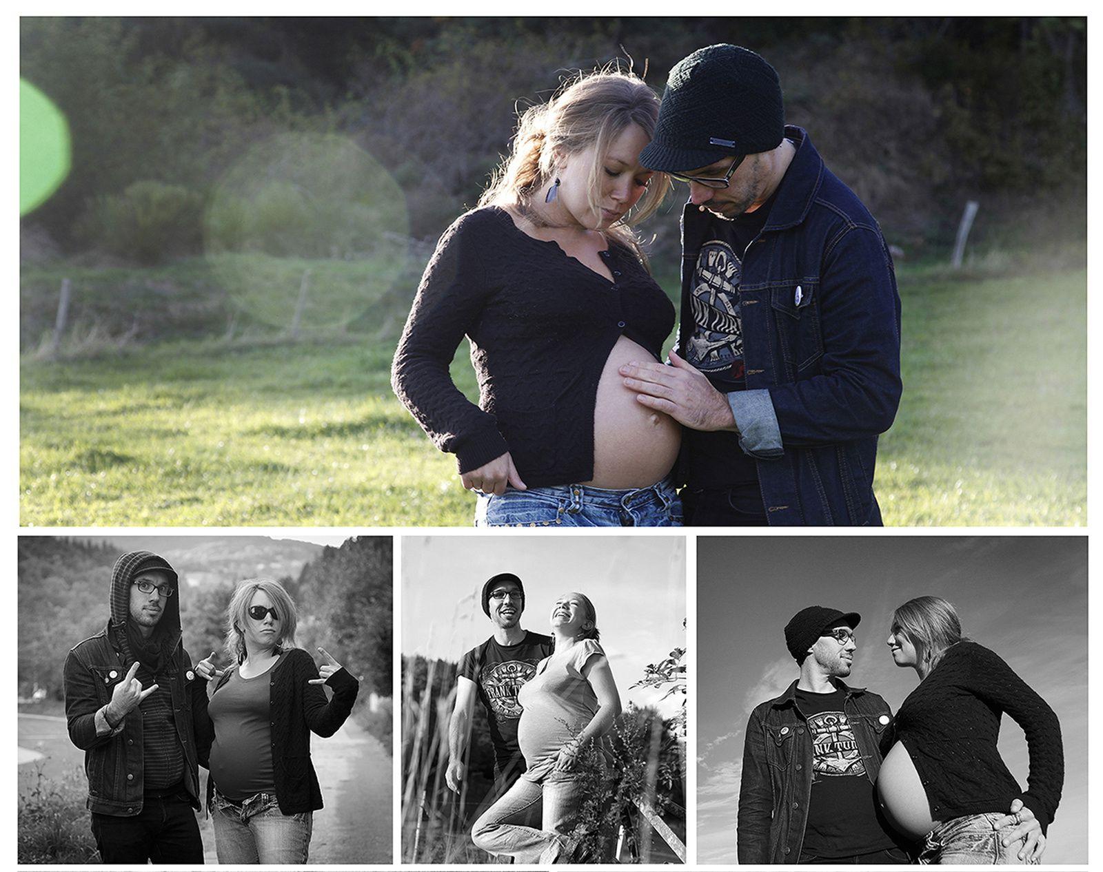 Photos de grossesse dans le Pilat.