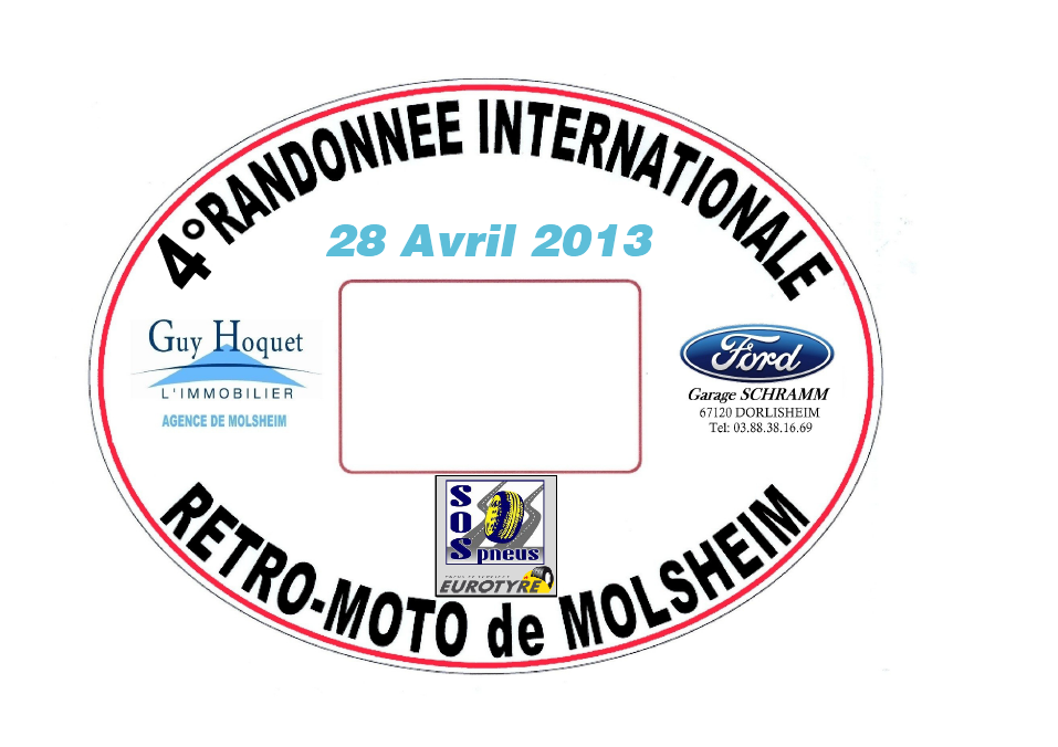 4° Randonnée Internationale Rétro Moto 2013