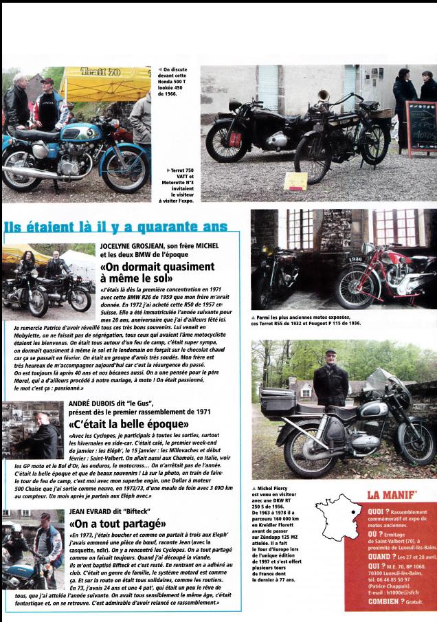 Rendez-vous Moto Classic de St-Valbert.