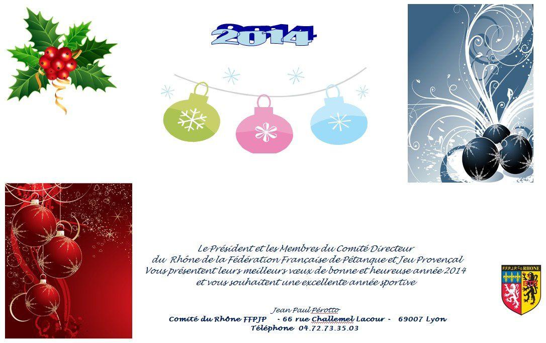 Vœux comité 2014
