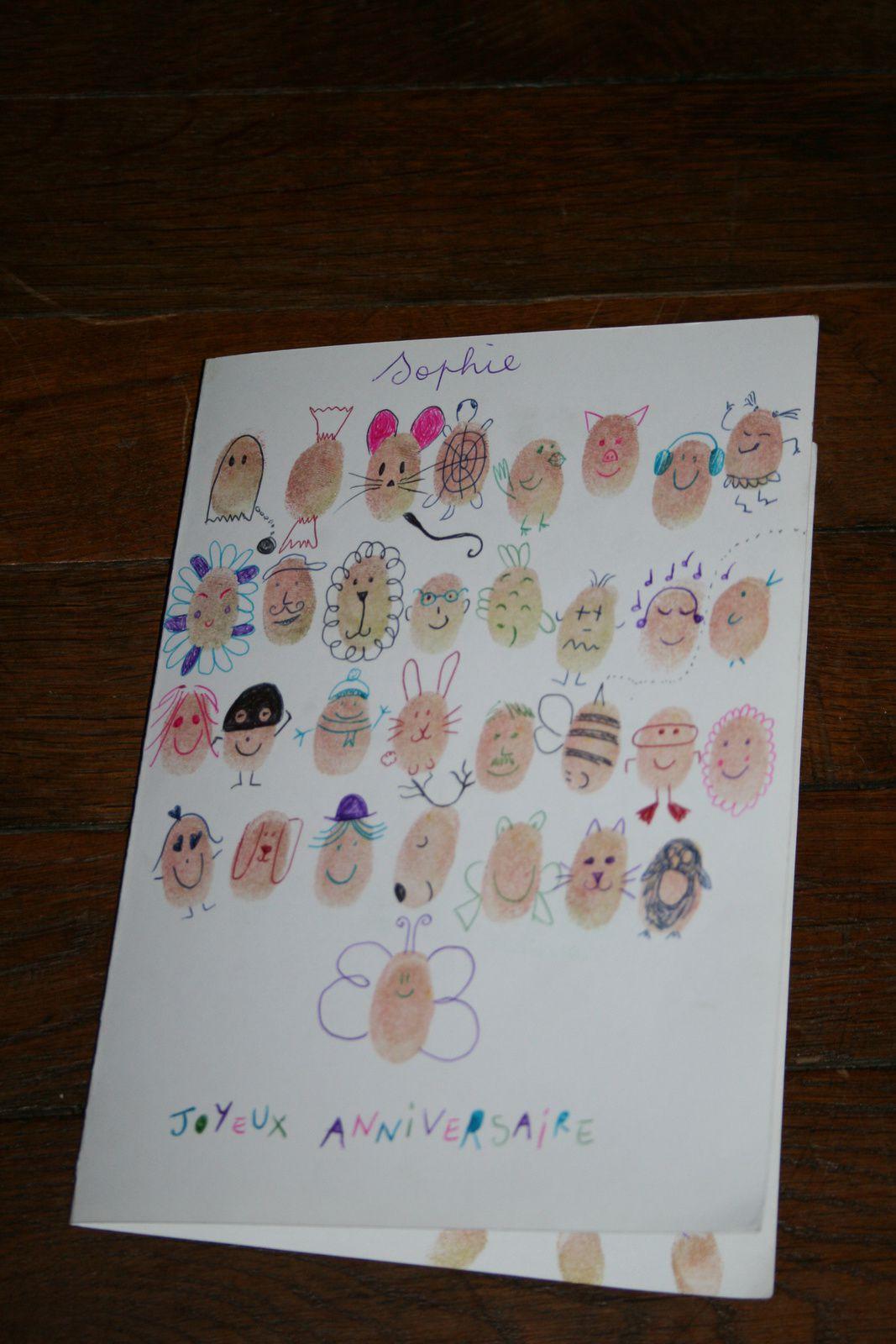 diy carte avec empreinte de doigts- charlotteblabla blog*