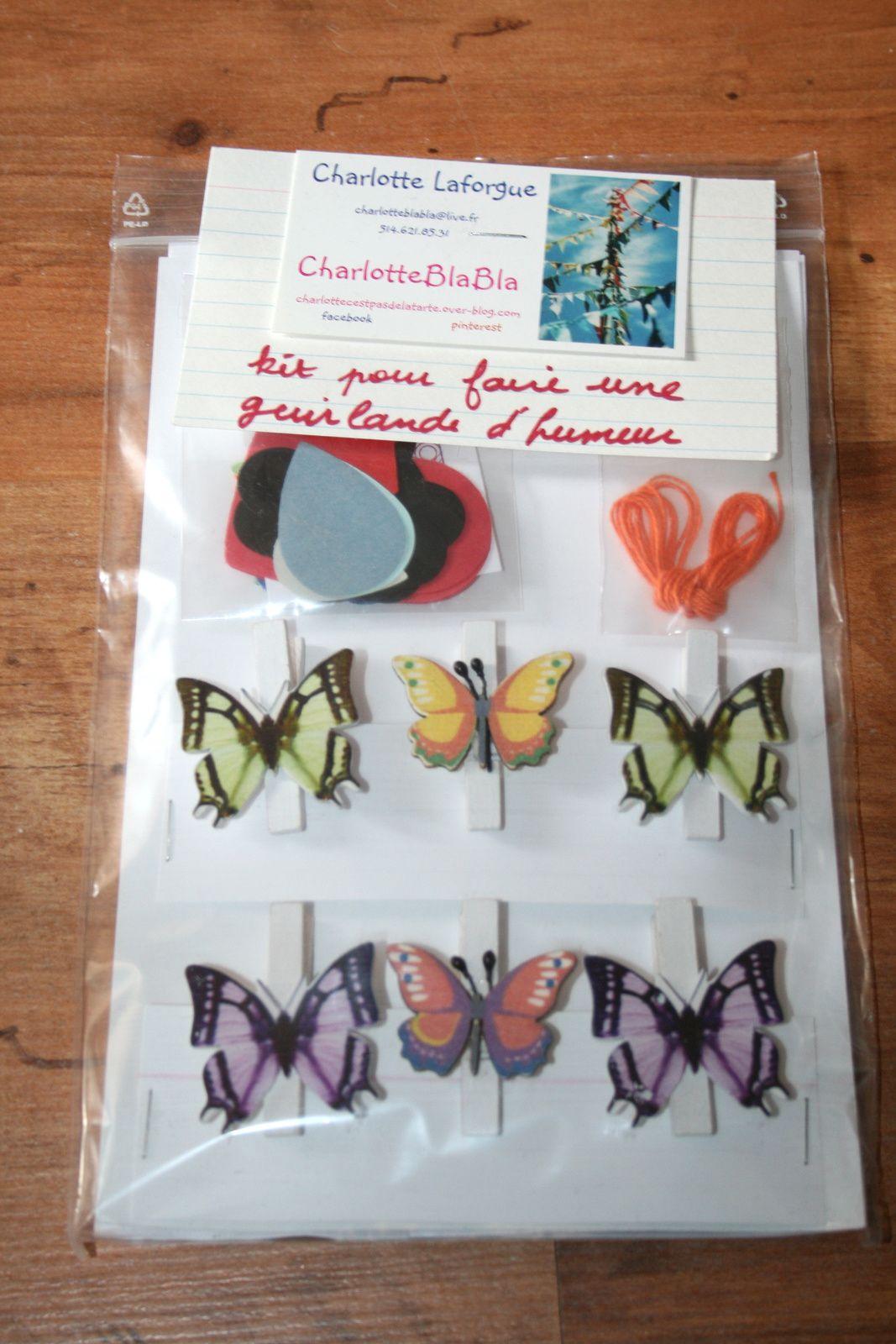 Guirlande d'humeur : papillons